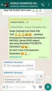 Komentar Muhammad Idham Azhari KONUS Digital Marketing 1 April 2019 melalui WAG KOMPASS Nusantara