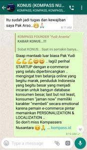Komentar Muhammad Idham Azhari KONUS Digital Startup 25 April 2019 melalui WAG KOMPASS Nusantara