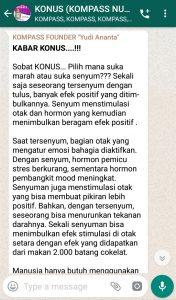 Penyampaian Program Biografi KOMPASS Nusantara 17 April 2019 oleh Founder Yudi Ananta