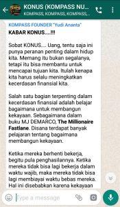 Penyampaian Program SMART KOMPASS Nusantara 9 April 2019 oleh Founder Yudi Ananta