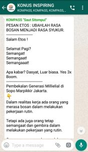 Penyampaian Saut Sitompul Guru Etos Indonesia 15 April 2019 melalui WAG KOMPASS Nusantara