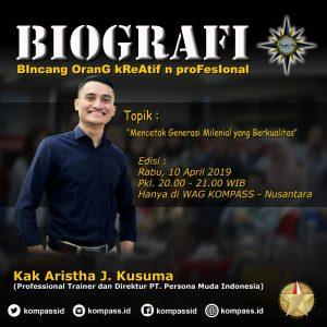 Program Biografi KOMPASS Nusantara 10 April 2019