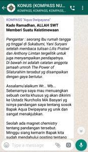 Penyampaian Aqua Dwipayana Pakar Silaturahim Indonesia 6 Mei 2019 melalui WAG KOMPASS Nusantara