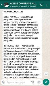 Penyampaian oleh Founder Yudi Ananta 14 Agustus 2019 melalui WAG KOMPASS Nusantara