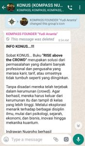 Penyampaian Program SMART KOMPASS Nusantara 19 November 2019 oleh Founder Yudi Ananta