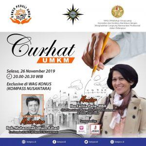 Program Curhat UMKM KOMPASS Nusantara 26 November 2019