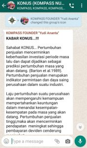 Penyampaian Founder Yudi Ananta 17 Desember 2019 melalui WAG KOMPASS Nusantara