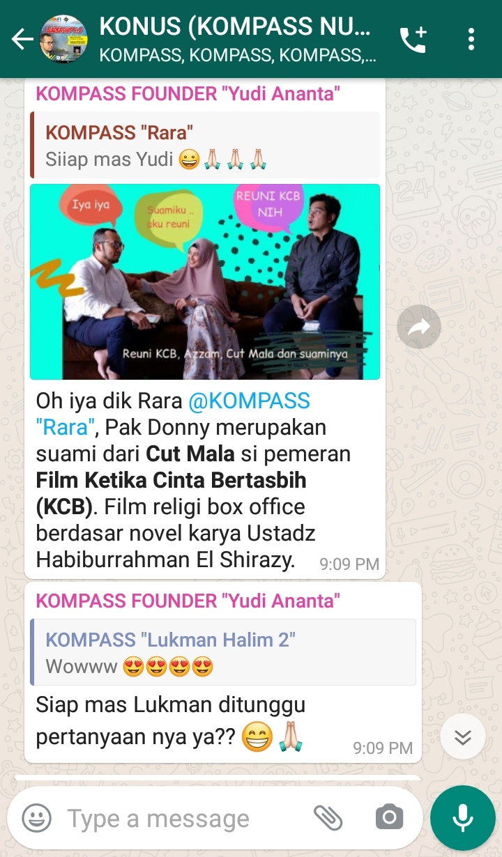 Ketika Cinta Bertasbih KOMPASS Nusantara