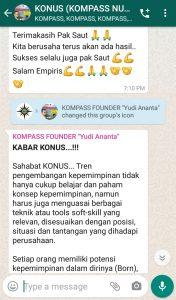 Penyampaian Founder Yudi Ananta 4 Mei 2020 melalui WAG KOMPASS Nusantara